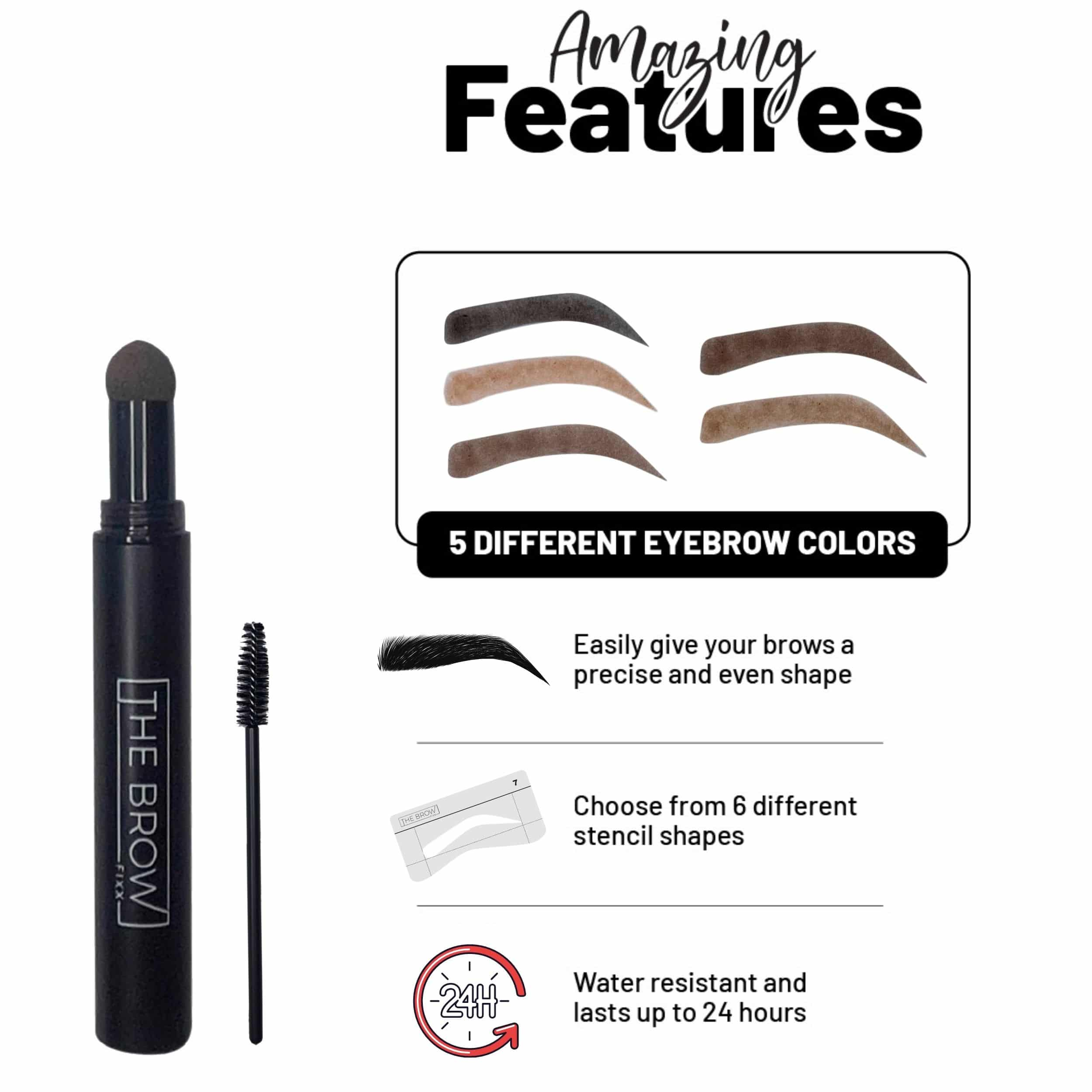 Brow Stamp Shape and Colors