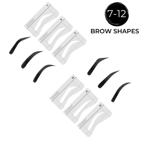 Brow Stencil Shapes 7-12
