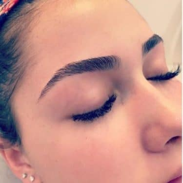 Maintaining eyebrows