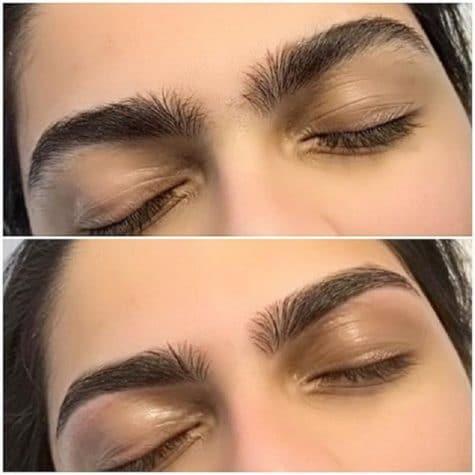 Eyebrow Waxed and Tweezed
