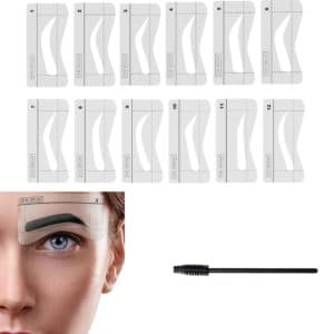 Pack of 12 Eyebrow Stencils