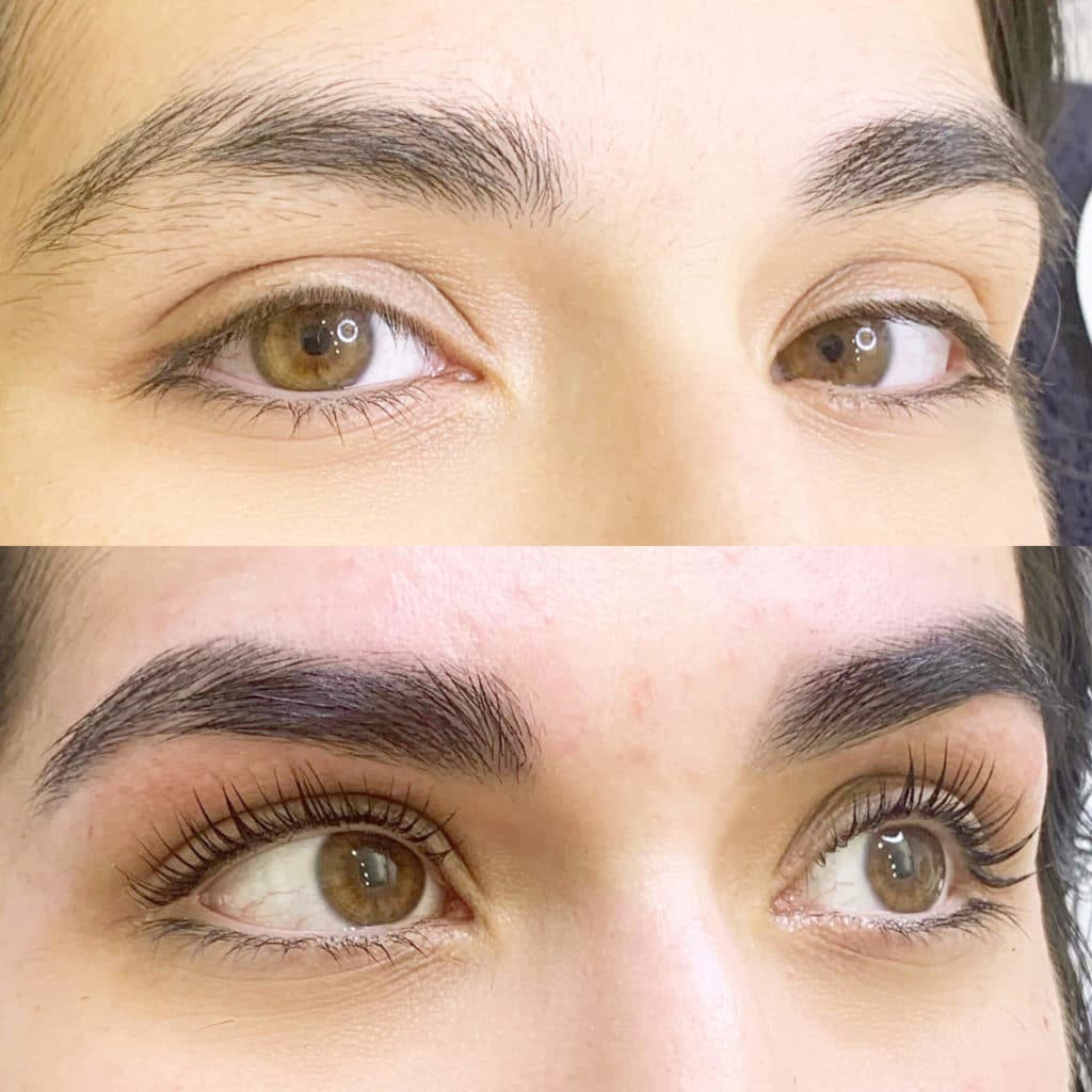 Keratin Lash Lift Service before and after picture