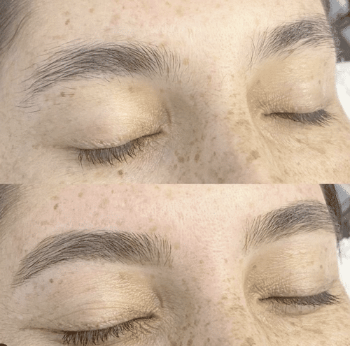 brow waxing and tweezing clean up