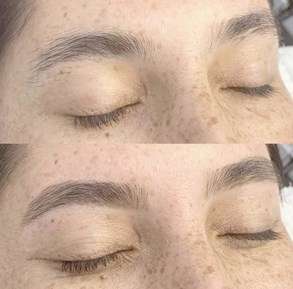 The Brow Fixx before and after waxing image