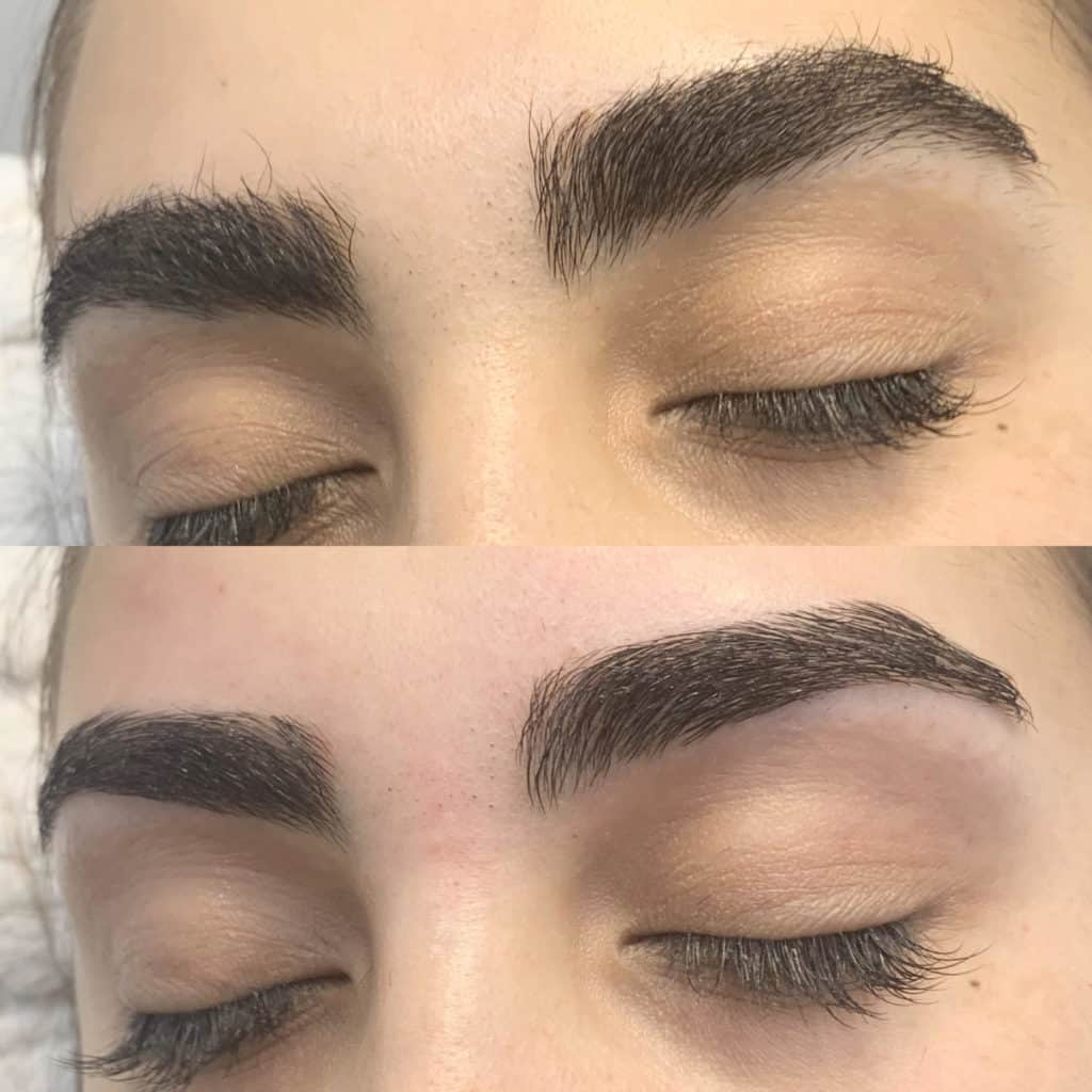 Eyebrow waxing and tinting service