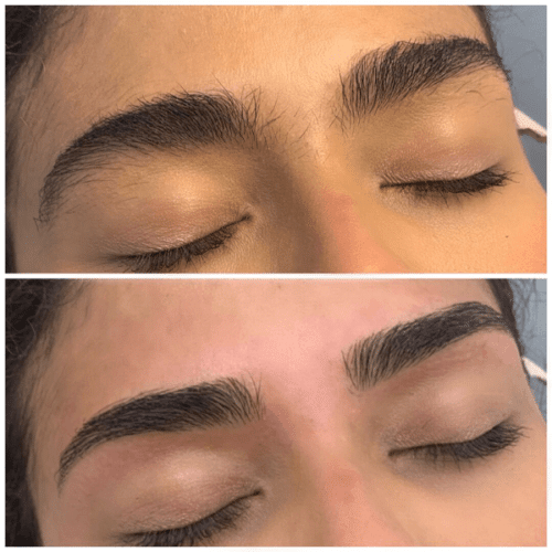 The Brow Fixx Eyebrow Threading Service Before & After