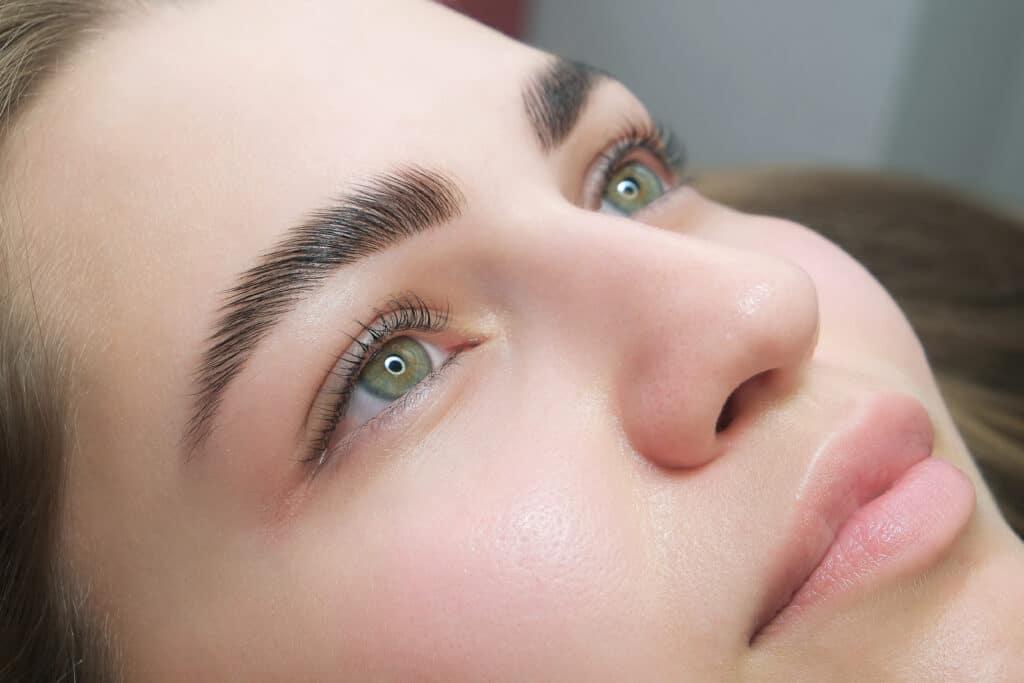 eyebrow lamination service at The Brow Fixx Salon