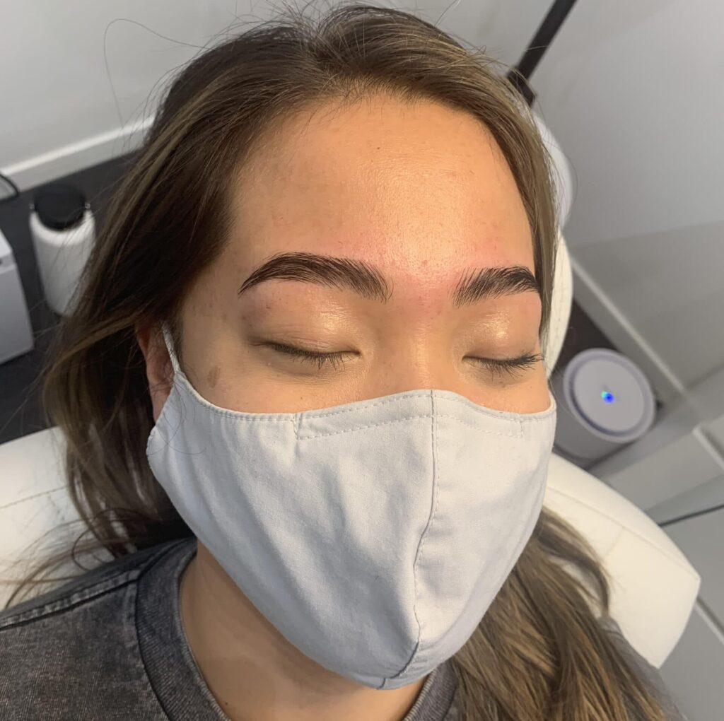 Brow lamination and tint service