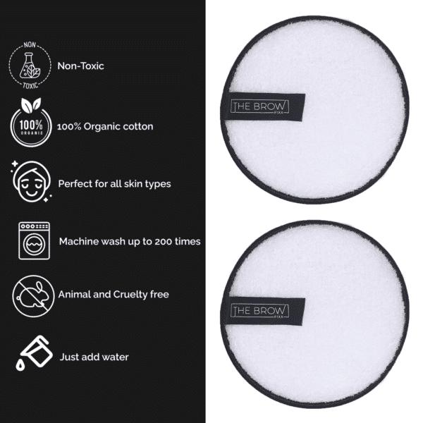 2 Pack - Reusable Makeup Remover Pads