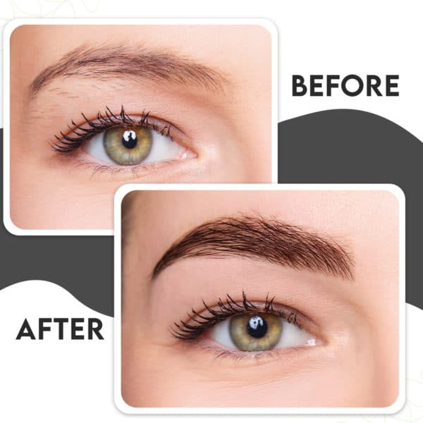 Before and After Microblade Pen Brow Pen