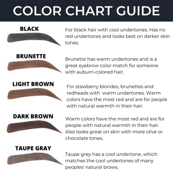 Brow Stamp Color Chart