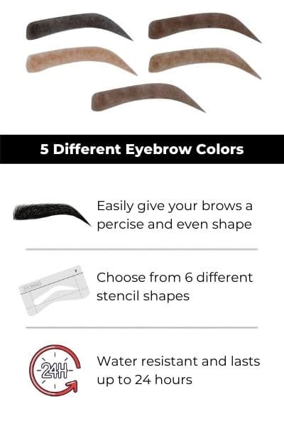 5 brow colors