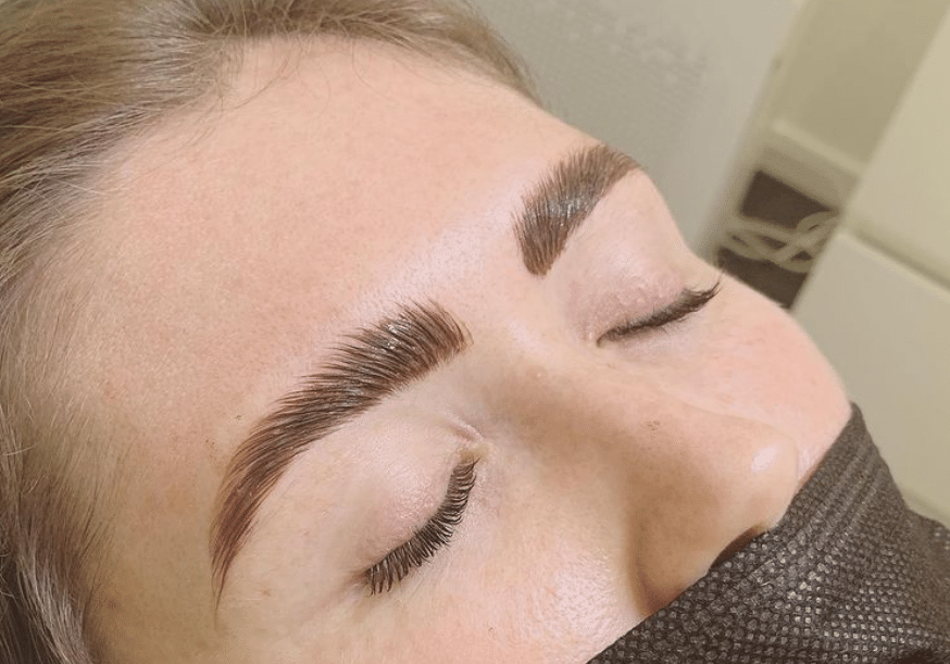 brow lamination and henna tint combo
